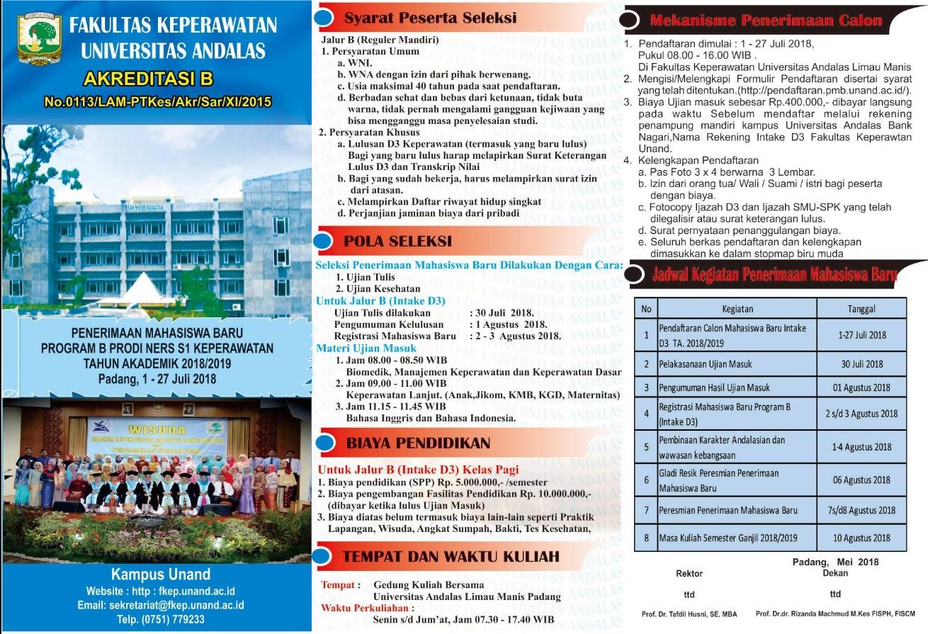Fakultas Keperawatan Universitas Andalas
